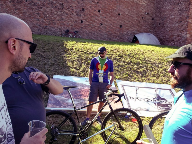 Erman bike goes to BAM bicycle adventure meeting Noale