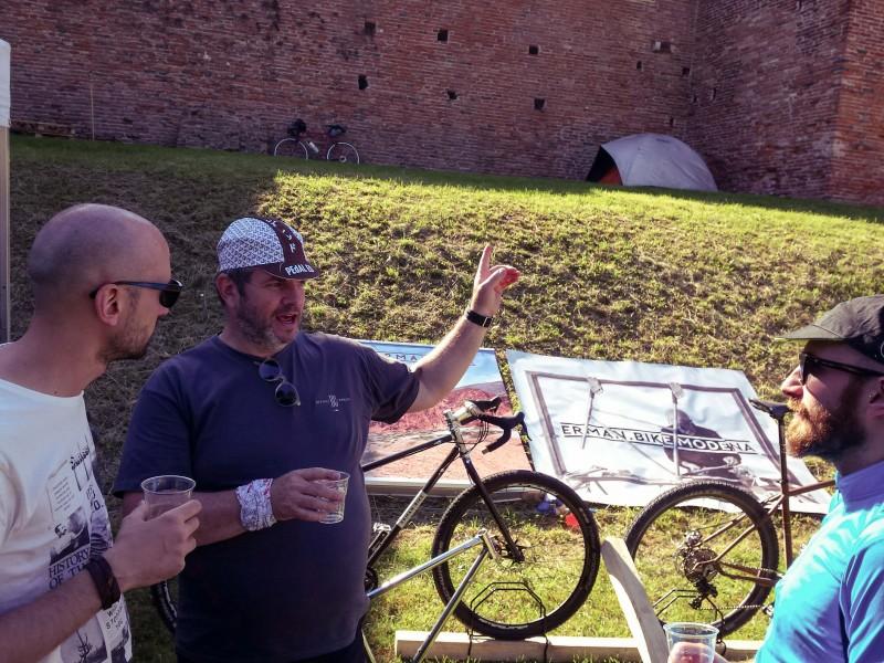 Erman bike goes to BAM bicycle adventure meeting Noale